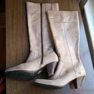 Born Grey/Tan Knee High Boots